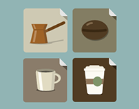 Flat Coffee Icons