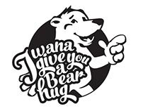 'I wana give you a bear hug' T-shirt design