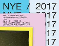 Haute To Death NYE poster