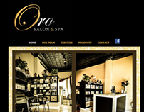Website Design for Oro Salon