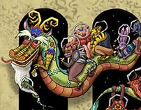 Horoscope Animals at Night before New Year