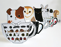 Cuties in Teacups :: Greeting Cards