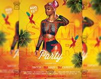 Summer Party on the Beach - Seasonal A5 Template