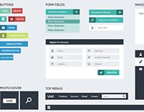FLAT Design UI/UX for Website - Free PSD