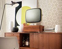 Vintage TV free 3d model