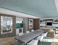 Appartement modulable pour vivre, travailler, recevoir