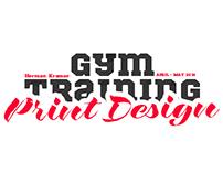Gym Training Print Design (freelance work april-may)