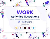 Work Activities Illustrations