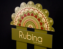 Rubina Glitter Henna Packaging