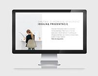 Prezentacja powerpoint minimalistyczny design