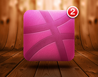 Dribbble App Icon