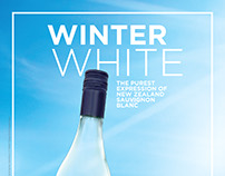 The Crossings Wine Winter White Ad and Display