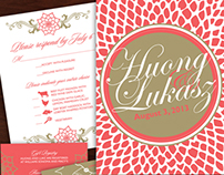 Dahlia-Inspired Wedding Invitations