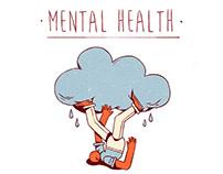 Mental health (editorial illustrations)
