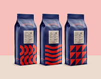 Branding & packaging design for ManTown Koffie