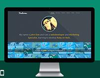 Dondurma - Onepage Personal Site