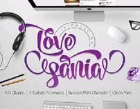 new font script LOVE SANIA