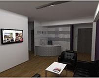 Office design . 3D Visuelization