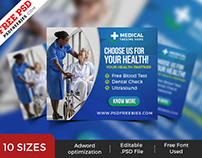 Healthcare Web Ad Banner Set PSD