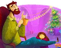 "Illustrations of fairy tale ""Little Fir Tree"""