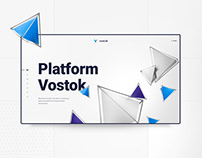 Blockchain system webdesign - Vostok platform