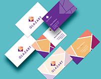 Glazart logo and brand identity design