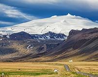 Snæfellsjökull. Volcano under glacier - Iceland 2019