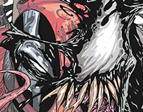 Deadpool venom illustration