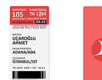 Airline Boarding Pass Design