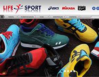 Website design for 'Life Sport'  official dealer ASICS