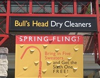 Bull's Head Dry Cleaners Brand Identity