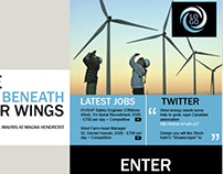 Template for wind energy company career site