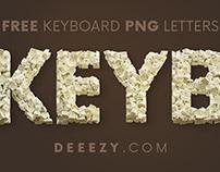 FREE White Keyboard 3D Lettering