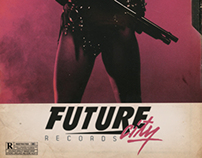 Future City Records - (vhs cover) label artwork