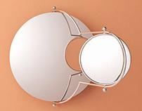 Free 3d model / Orbit Wall Mirror by OMK 1965