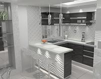 01/2017 Interior Design and Vray 3D Model KITCHEN