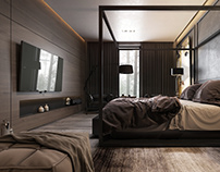 Dark Master Bedroom