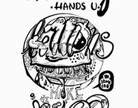 Lemon - hand lettering poster