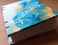 Coptic-stitched Gratitude Journal
