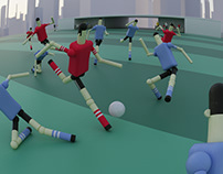 Soccer wood toys