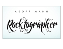Logo: Aeoff Mann Rocktographer