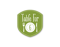 Table For 6 Logo Design