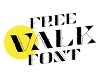 Valk Display free font