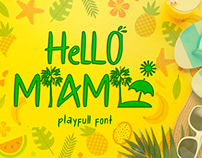 Free Hello Miami Playfull Font