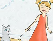 Cat Walk Illustration