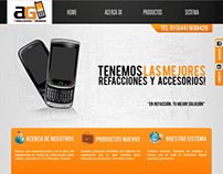 cell phone spare parts web design