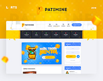 Patimine - Minecraft Game Design website templeate dle