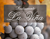 Diseño de carta para Restaurante La Viña.