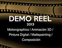 Demoreel VFX, Animación, Pintura Digital - Mayo 2013
