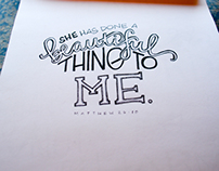 Hand Lettering & Drawings